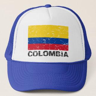 Vintage Flagge Kolumbiens Truckerkappe