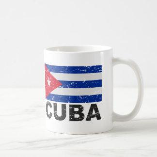 Vintage Flagge Kubas Kaffeetasse