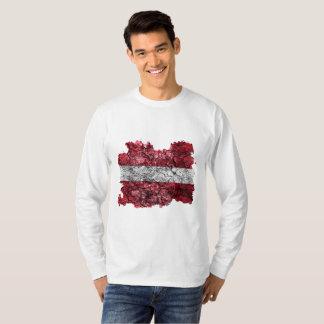Vintage Flagge Lettlands T-Shirt