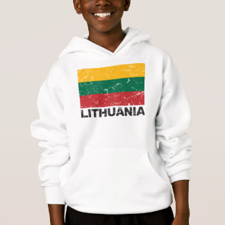 Vintage Flagge Litauens Hoodie