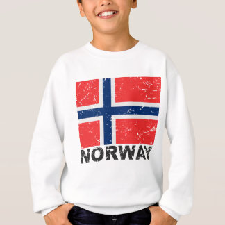 Vintage Flagge Norwegens Sweatshirt