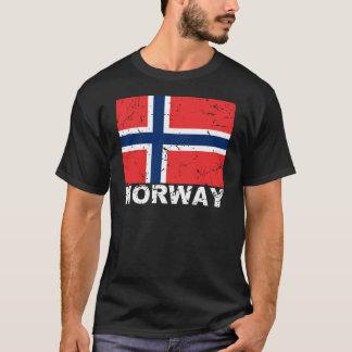 Vintage Flagge Norwegens T-Shirt