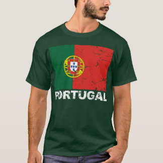Vintage Flagge Portugals T-Shirt