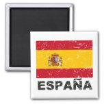 Vintage Flagge Spaniens Kühlschrankmagnete