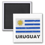 Vintage Flagge Uruguays Kühlschrankmagnet