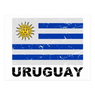 Vintage Flagge Uruguays Postkarte