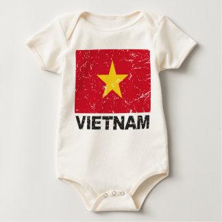 Vintage Flagge Vietnams Baby Strampler