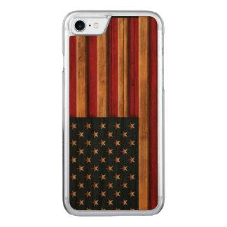 Vintage Flagge von Amerika beunruhigte Carved iPhone 8/7 Hülle