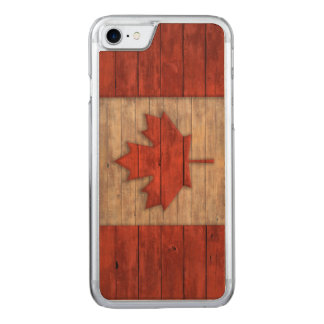 Vintage Flagge von Kanada beunruhigte Carved iPhone 8/7 Hülle
