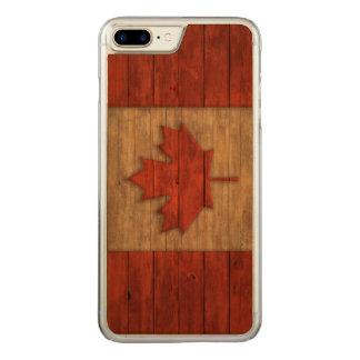 Vintage Flagge von Kanada beunruhigte Carved iPhone 8 Plus/7 Plus Hülle