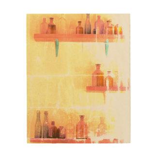 VINTAGE FLASCHEN Wand-Kunst des Holz-8 x 10 Holzwanddeko