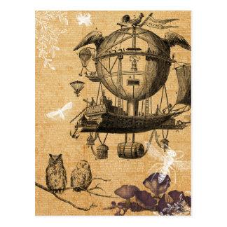 Vintage Fliegen-Maschinen-Postkarte Postkarte