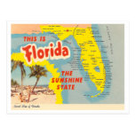 Vintage Florida-Karte Postkarten