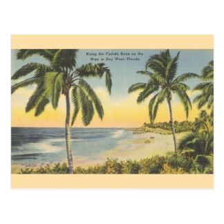 Vintage Florida-Schlüssel zur Key- Postkarte