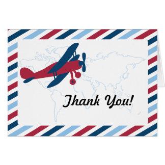 Vintage Flugzeug-Luftpost dankt Ihnen Karte