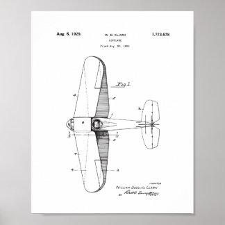 Vintage Flugzeug-Patent-Wand-Kunst, Poster