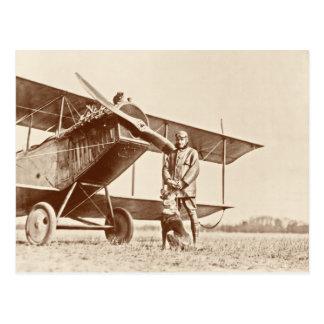Vintage Flugzeuge Postkarte