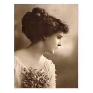 Vintage Foto Damen Postkarte