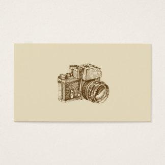 Vintage Fotograf-Geschäfts-Karten-Schablone Visitenkarten