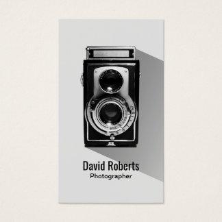 Vintage Fotograf-Kamera-Fotografie Visitenkarte