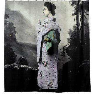 Vintage Fotografie:  Geisha-Mädchen Duschvorhang