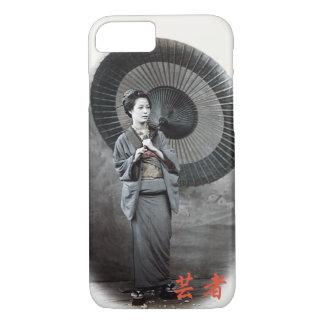 Vintage Fotografie:  Geisha-Mädchen mit iPhone 8/7 Hülle