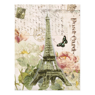 Vintage Franzose-Eiffel-Turmpostkarte Postkarte