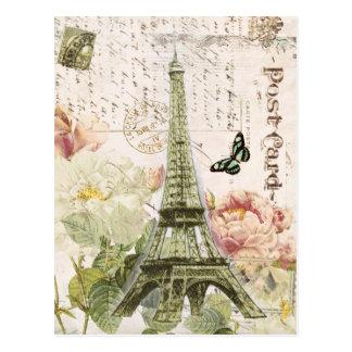 Vintage Franzose-Eiffel-Turmpostkarte Postkarten