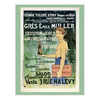 Vintage Franzose-Paris-Keramikherstelleranzeige Postkarte