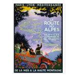 Vintage Franzose-Reise-Plakat-Kunst Postkarten