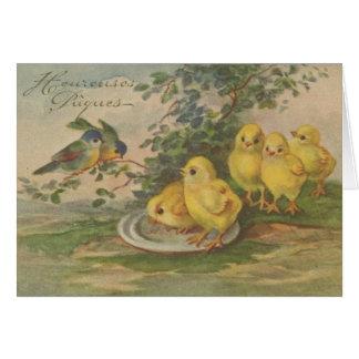 Vintage Franzosen Heureuses Pâques Ostern Karte