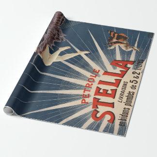Vintage Franzosen Petrole Stella (Stella-Benzin) Geschenkpapier