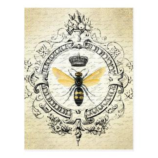 Vintage französische Bienenpostkarte Postkarte