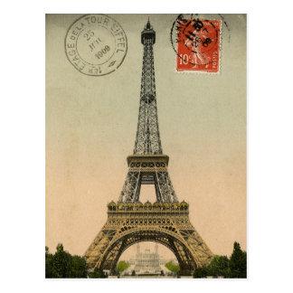 Vintage französische Chic-Eiffel-Turm-Paris-Postka
