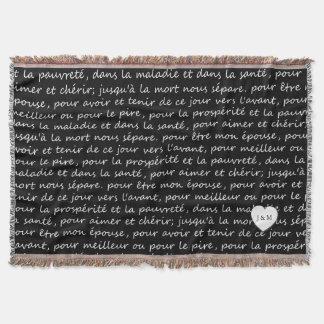 Vintage französische Hochzeits-Versprechen Decke
