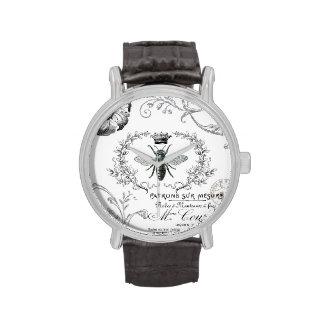 Vintage französische Königin-Bienenuhr Uhr