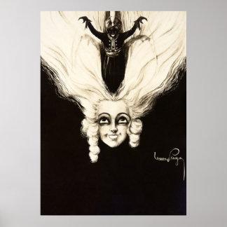 Vintage französische Marionetten-Frisur Poster