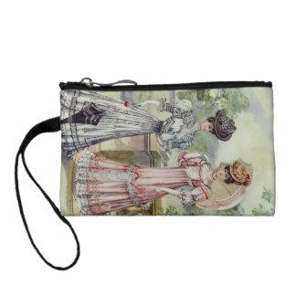 Vintage französische Mode grau, rosa Kleid