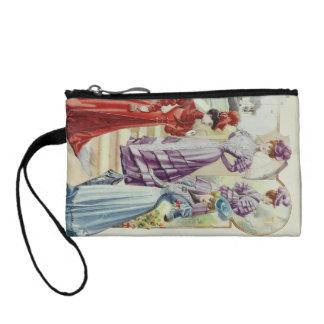 Vintage französische Mode - violettes Kleid