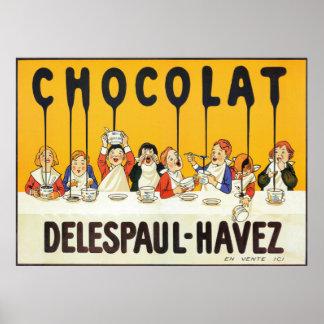 Vintage französische Schokolade scherzt Poster