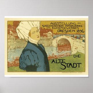 Vintage französische Werbungs-Äbte Dresden 1896 Poster