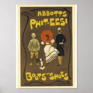 Vintage französische Werbungs-Äbte Phit-T-Shirts Poster