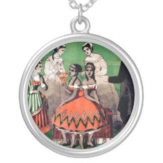 Vintage französische Zirkus-Plakat-Kunst-Halskette Halskette Mit Rundem Anhänger