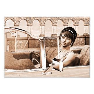 Vintage Frau Fotodruck