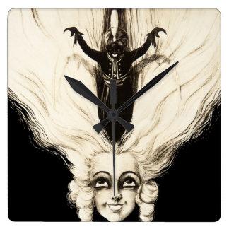 Vintage Frauen-Marionetten-französisches Porträt C Uhr