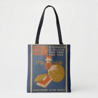 """Vintage """"Freiheits-"""" Taschen-Tasche Tasche"""