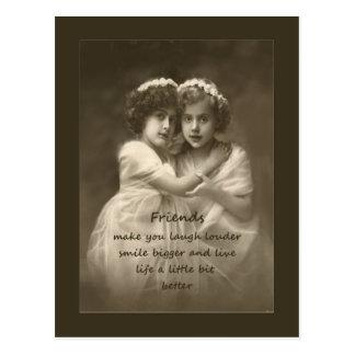 Vintage Freund-Inspirational Freundschafts-Zitat Postkarte
