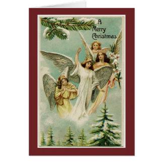 Vintage frohe Weihnacht-Engel Karte