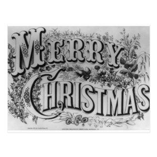 """Vintage """"frohe Weihnachten"""" circa 1876 Postkarte"""
