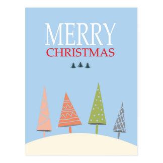 Vintage frohe Weihnachten Postkarte